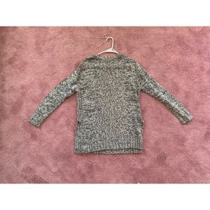 Quinn grey slits on side sweater